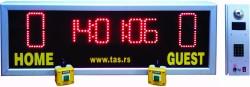 Semafor sa zajedničkim prikazima sat-tajmera 60min i rezultata ekipa u malom fudbalu za sportske i balon sale