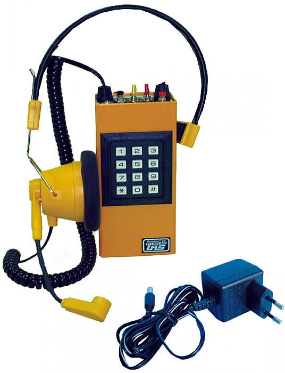 Ispitna telefonska kom. sa naglavnom slušalicom, linijskom interfonskom vezom i pozivnikom
